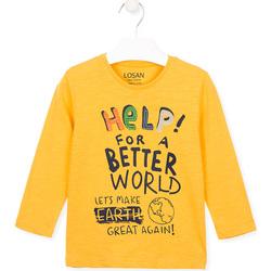 textil Børn T-shirts & poloer Losan 025-1005AL Gul