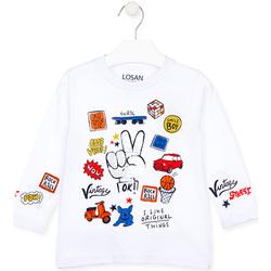 textil Børn Langærmede T-shirts Losan 025-1026AL hvid