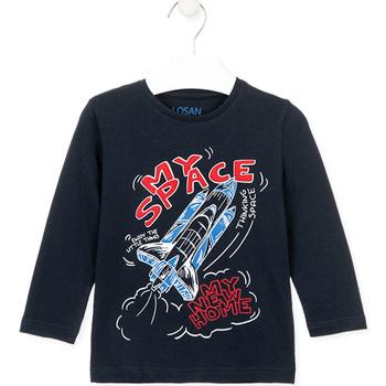 textil Børn T-shirts & poloer Losan 025-1201AL Blå
