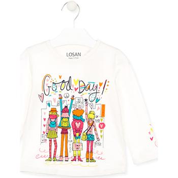 textil Børn T-shirts & poloer Losan 026-1003AL hvid