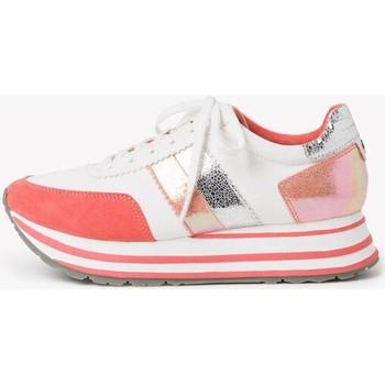Sneakers Tamaris  White Orange Flat Shoes