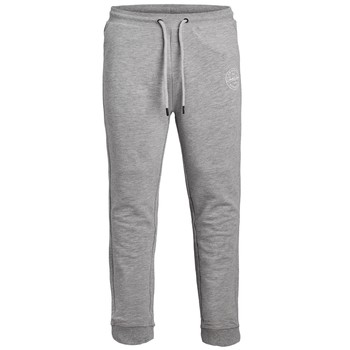 textil Dreng Træningsbukser Jack & Jones JJIGORDON JJSHARK SWEAT PANT Grå