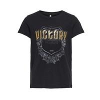 textil Pige T-shirts m. korte ærmer Only KONLINA Sort