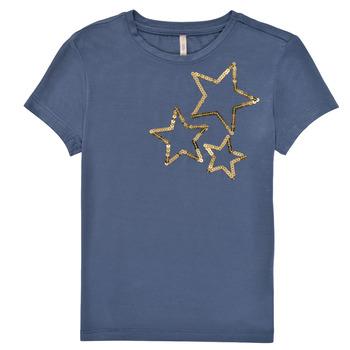 textil Pige T-shirts m. korte ærmer Only KONMOULINS STAR Blå