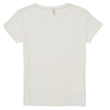 textil Pige T-shirts m. korte ærmer Only KONMOULINS Hvid