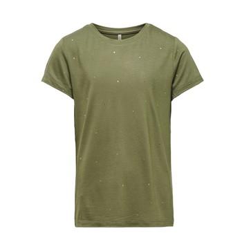 textil Pige T-shirts m. korte ærmer Only KONMOULINS Kaki