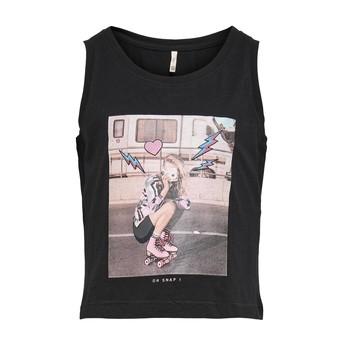 textil Pige Toppe / T-shirts uden ærmer Only KONLANA Sort