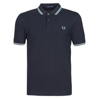 textil Herre Polo-t-shirts m. korte ærmer Fred Perry TWIN TIPPED FRED PERRY SHIRT Marineblå / Hvid / Blå
