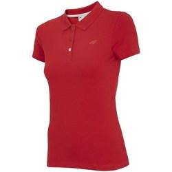 textil Dame Polo-t-shirts m. korte ærmer 4F TSD008 Rød