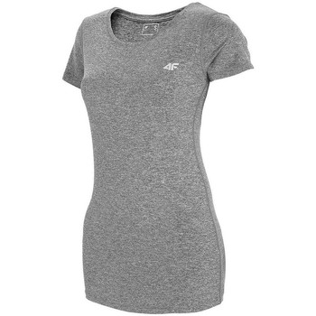 textil Dame T-shirts m. korte ærmer 4F TSDF002 Grå