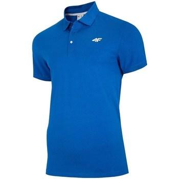 textil Herre Polo-t-shirts m. korte ærmer 4F TSM007 Blå