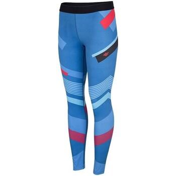 textil Dame Leggings 4F SPDF006 Blå, Azurblå