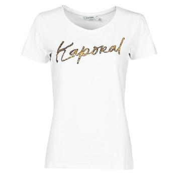 textil Dame T-shirts m. korte ærmer Kaporal PETER Hvid