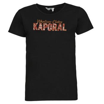 textil Dame T-shirts m. korte ærmer Kaporal PENIN Sort