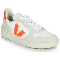 Sko Lave sneakers Veja V-10 Hvid / Orange