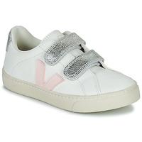 Sko Pige Lave sneakers Veja SMALL ESPLAR VELCRO Hvid / Guld
