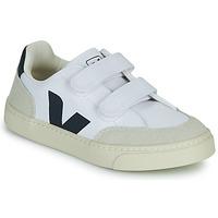 Sko Dreng Lave sneakers Veja SMALL V-12 VELCRO Hvid / Blå