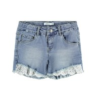 textil Pige Shorts Name it NKFSALLI Blå