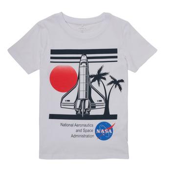 textil Dreng T-shirts m. korte ærmer Name it NASA Hvid