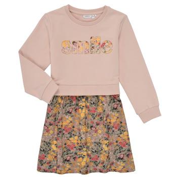 textil Pige Korte kjoler Name it NMFBADA Grå
