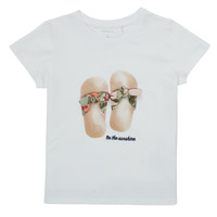 textil Pige T-shirts m. korte ærmer Name it NMFFISUMMER Hvid
