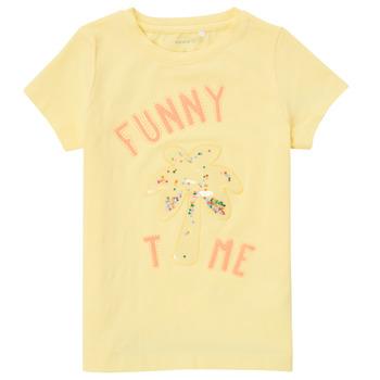 textil Pige T-shirts m. korte ærmer Name it NMFFEFA Gul