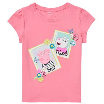 textil Pige T-shirts m. korte ærmer Name it PEPPAPIG Pink