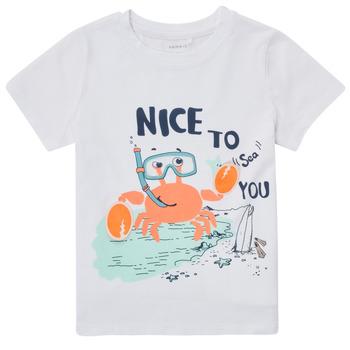 textil Dreng T-shirts m. korte ærmer Name it NMMFANO Hvid