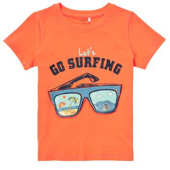 textil Dreng T-shirts m. korte ærmer Name it NMMFANO Orange