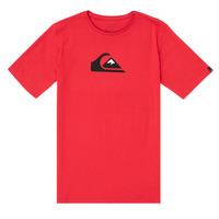 textil Dreng T-shirts m. korte ærmer Quiksilver COMP LOGO Rød