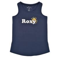 textil Pige Toppe / T-shirts uden ærmer Roxy THERE IS LIFE FOIL Marineblå