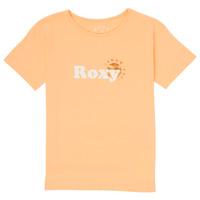 textil Pige T-shirts m. korte ærmer Roxy DAY AND NIGHT FOIL Pink