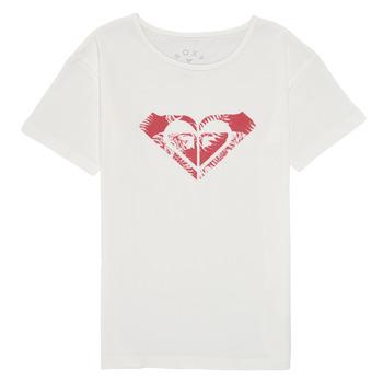 textil Pige T-shirts m. korte ærmer Roxy DAY AND NIGHT PRINT Hvid