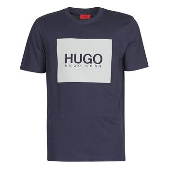textil Herre T-shirts m. korte ærmer HUGO DOLIVE Marineblå