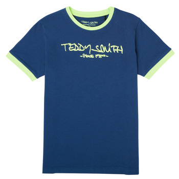 textil Dreng T-shirts m. korte ærmer Teddy Smith TICLASS 3 Marineblå
