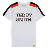 textil Dreng T-shirts m. korte ærmer Teddy Smith T-MACK Hvid