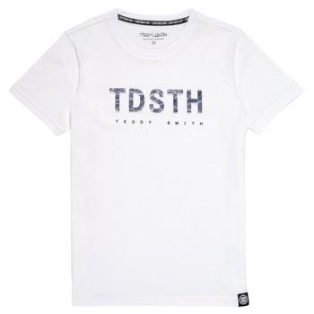 textil Dreng T-shirts m. korte ærmer Teddy Smith T-MAX Hvid