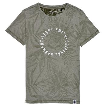 textil Dreng T-shirts m. korte ærmer Teddy Smith T-OTYS Kaki