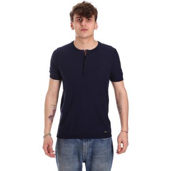 textil Herre T-shirts m. korte ærmer Gaudi 011BU53007 Blå