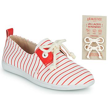 Sko Børn Lave sneakers Armistice STONE ONE Hvid / Rød