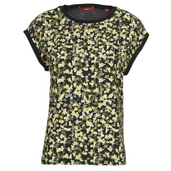 textil Dame Toppe / Bluser S.Oliver 14-1Q1-32-7164-99B0 Sort / Flerfarvet