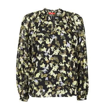 textil Dame Toppe / Bluser S.Oliver 14-1Q1-11-4082-99A1 Sort / Flerfarvet