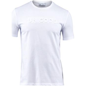 textil Herre T-shirts m. korte ærmer Lumberjack CM60343 001 508 hvid