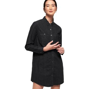 textil Dame Korte kjoler Superdry G80013OR Sort