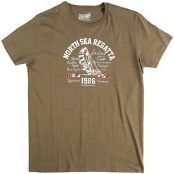 textil Herre T-shirts m. korte ærmer Key Up 2G78S 0001 Grøn