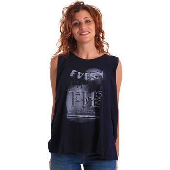 textil Dame Toppe / T-shirts uden ærmer Key Up 5Z14S 0001 Blå