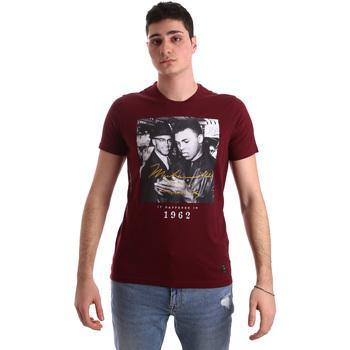 textil Herre T-shirts m. korte ærmer Gaudi 921BU64003 Rød