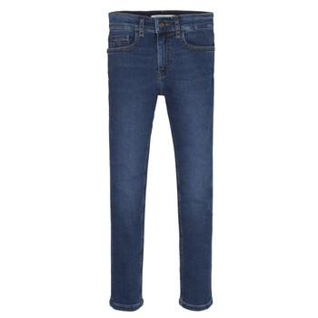 textil Dreng Jeans - skinny Calvin Klein Jeans ESSENTIAL ROYAL BLUE STRETCH Blå