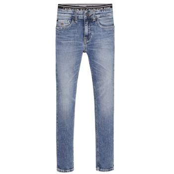 textil Dreng Jeans - skinny Calvin Klein Jeans SKINNY VINTAGE LIGHT BLUE Blå