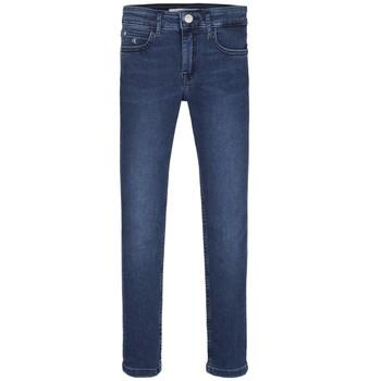 textil Pige Jeans - skinny Calvin Klein Jeans SKINNY ESS ROYAL BLUE Blå